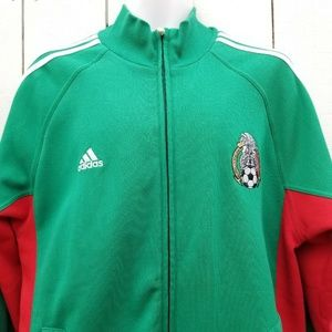 Adidas Men FMF Mexico Track Jacket Green Red White